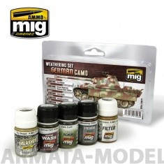 AMIG7443 Ammo Mig Набор для создания реалистичных эффектов GERMAN CAMO WEATHERING SET