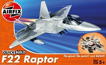 J6005 Самолет F22 Raptor QUICKBUILD, Airfix