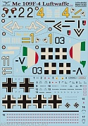 PS48-052 Декаль Me 109 F4 Part 1 Wet decal
