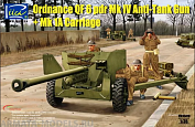 RV35018 1/35 Ordnance QF 6-Pdr. Mk.IV Late War Infantry Anti-tank Gun (w/Metal gun barrel)
