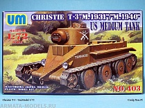 "Christie T-3""M.1931""/""M.1940"" US Medium tank"