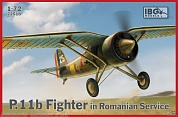 IBG72518 Самолёт PZL P.11b Fighter in Romanian Service (IBG models) 1/72