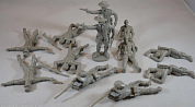 TSSD17 Фигуры Dismounted Cavalry with Casualties  (12 x 1/32 figures)