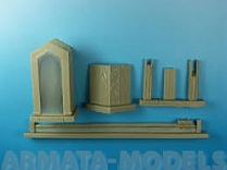 ED-3504 Дополнения для моделей Diorama accessories-Resin set 1/35 scale-Guard Sentry (Gate Shack)