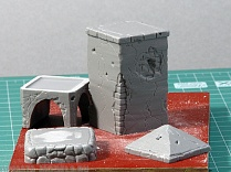 ED-3506 Дополнения для моделей Wayside Shrine in 1/35 scale. Set contains 5 elements made in resin.