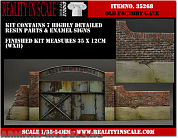 35269RIS Old Factory Gate - 7 resin pcs. and signs