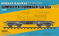 35A02-MW Сборная модель платформы 1/35 German Railway SCHWERER PLATTFORMWAGEN Type Ssys ( Metal wheels Edition )