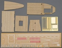 "72124 WOODEN DECK  FOR CARRIER AKAGI ""THREE FLIGHT DECK"""