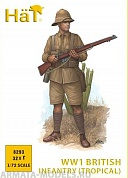HAT8293 Фигуры WW1 British Infantry (tropical dress)