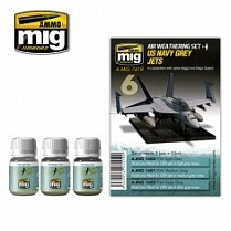 AMIG7419 Ammo Mig Набор для создания реалистичных эффектов US NAVY GREY JETS