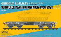 35A02 Сборная модель платформы 1/35 German Railway SCHWERER PLATTFORMWAGEN Type Ssys ( Standard Edition )