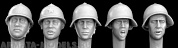 HRH03 5 heads, Soviet early WW2 helmets