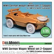 DW30002 Дополнение для моделей German Wagen Tire(WESA) - Sagged (for Tamiya 1/35)
