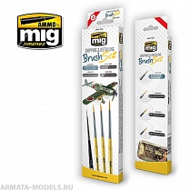 AMIG7603 Ammo Mig Набор кистей CHIPPING & DETAILING BRUSH SET