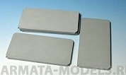 E-019 Дополнения для моделей Modern Concrete Road Panels Set #1 Set contains following elements in 1/35 scale: 4 plaster casted, concrete panels. Size of the panel: 85,7 ? 42,8 mm.