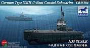 СВ35104 Подводная лодка German Type XXIII U-Boat Coastal Submarine (Bronco Models)1/35