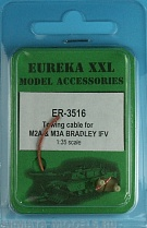 ER-3516 Дополнения для моделей Towing cable for  M2A & M3A BRADLEY CFV, 1/35 scale. This set consists of 1 lengths of copper cable and 2 identical eyelets.