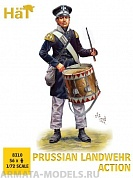 HAT8310 Фигуры Prussian Landwehr Action 1/72