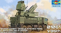 01061P Игрушка ЗРК Russian 72V6E4 Combat Unit of 96K6 Pantsir-S1 ADMGS(w/RLM SOC S-band Radar) (1:35)