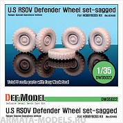DW35022 Дополнение для моделей U.S RSOV Defender Sagged wheel set (for Hobbyboss 1/35)