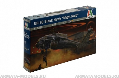 "1328ИТ Вертолет UH-60 Black hawk ""Night raid"" Italeri"
